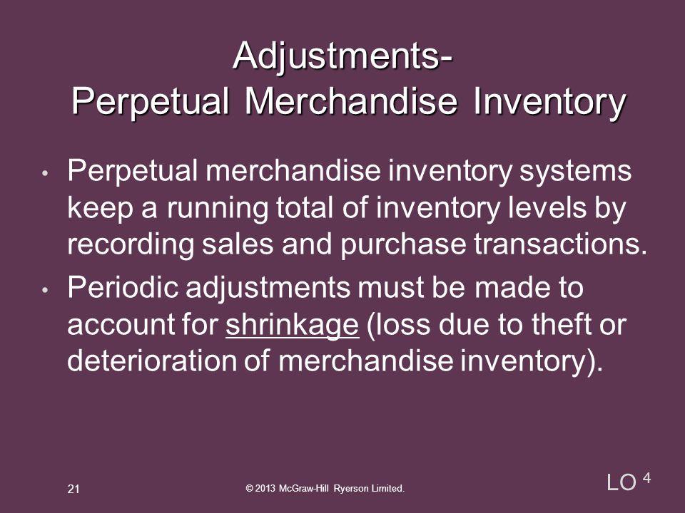 Perpetual Merchandise Inventory