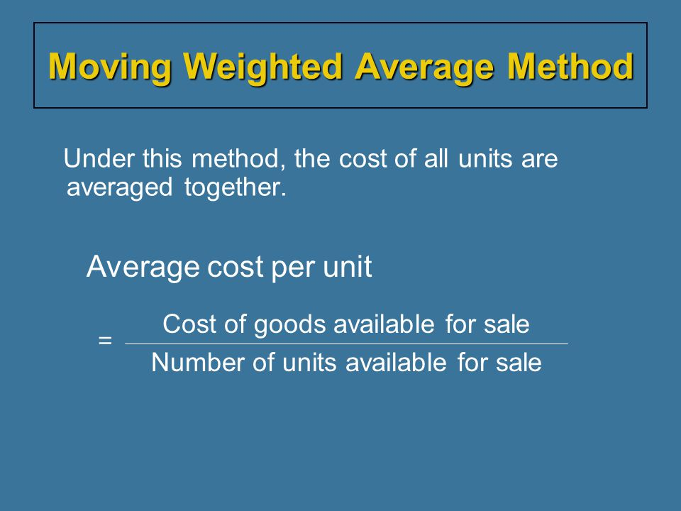 Moving Weighted Average Method