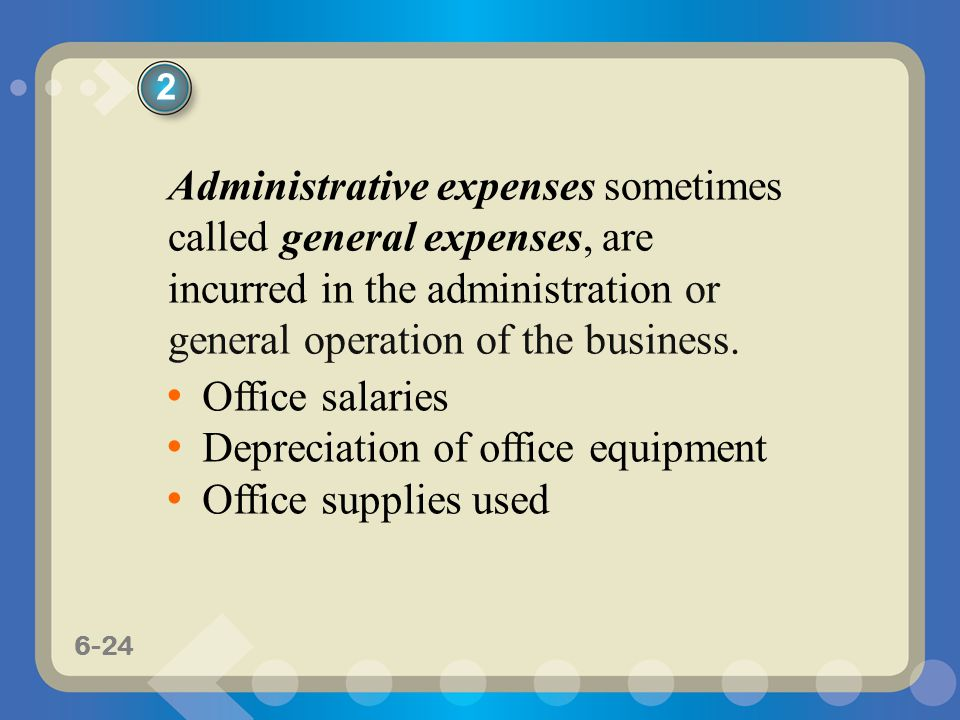 Depreciation of office equipment Office supplies used