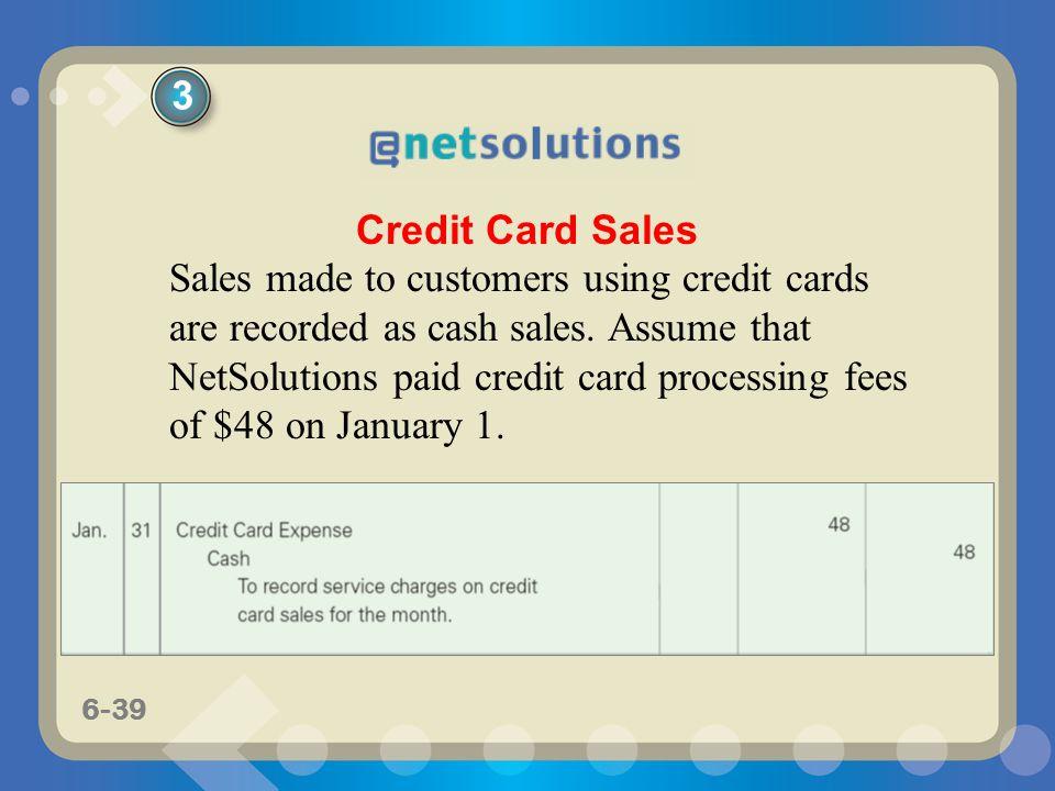 3 Credit Card Sales.