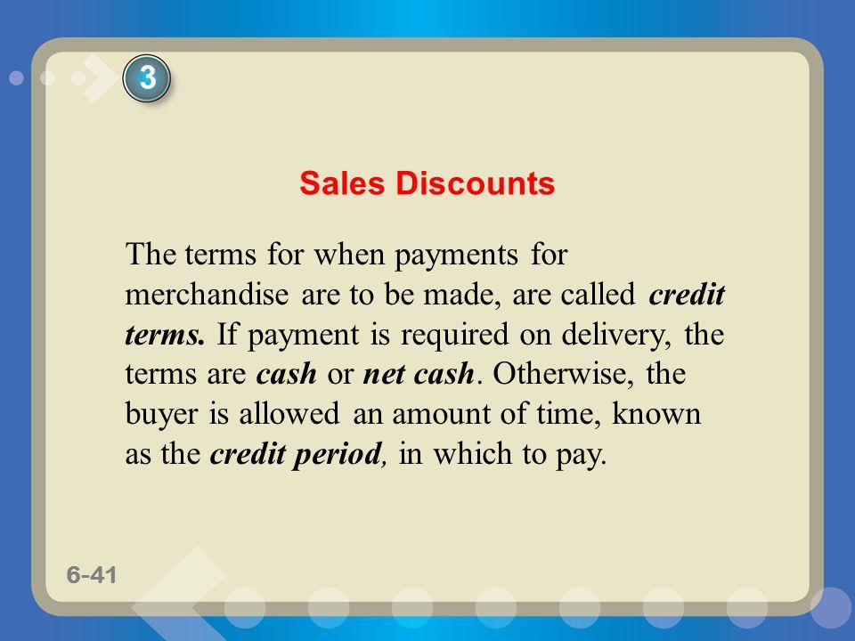 3 Sales Discounts.