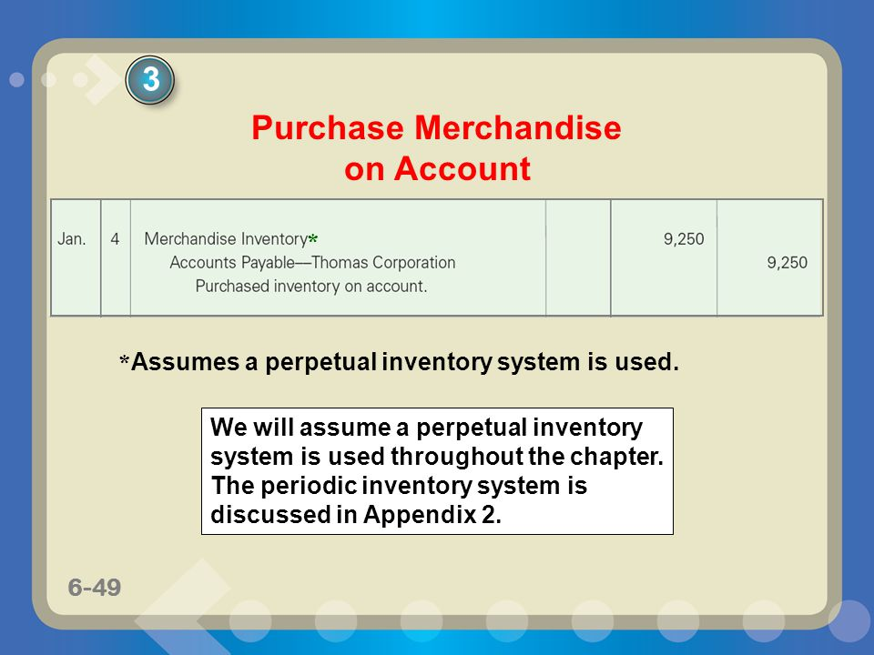 Purchase Merchandise on Account