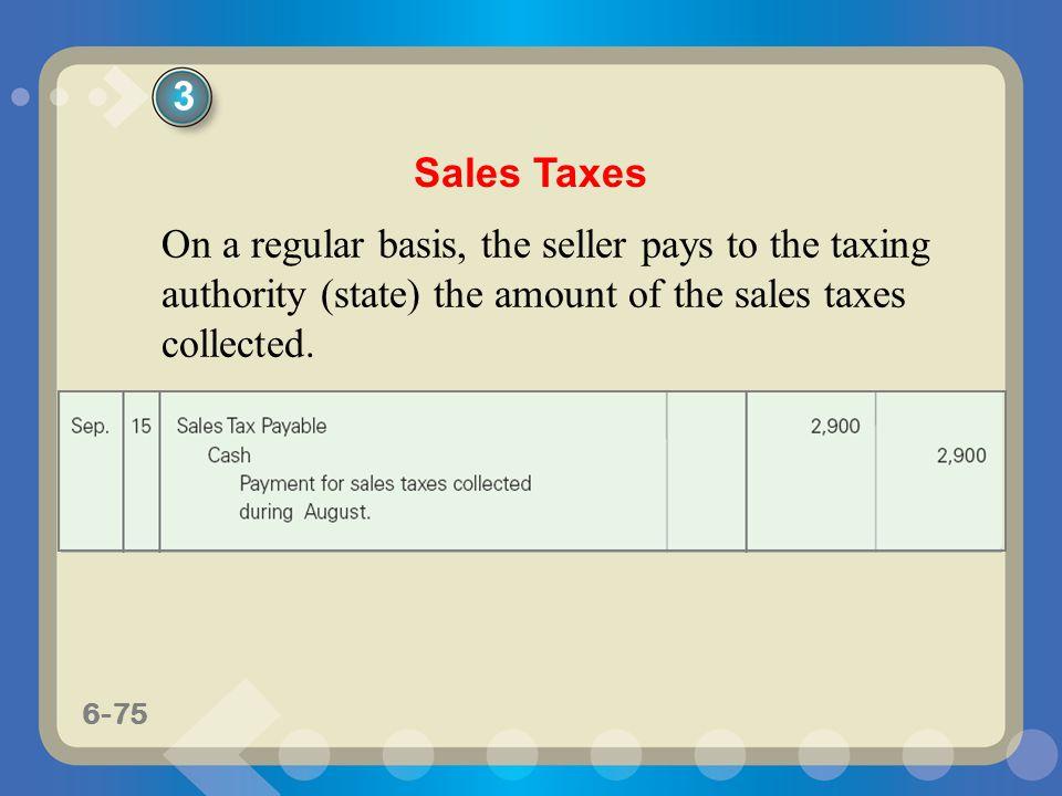 3 Sales Taxes.