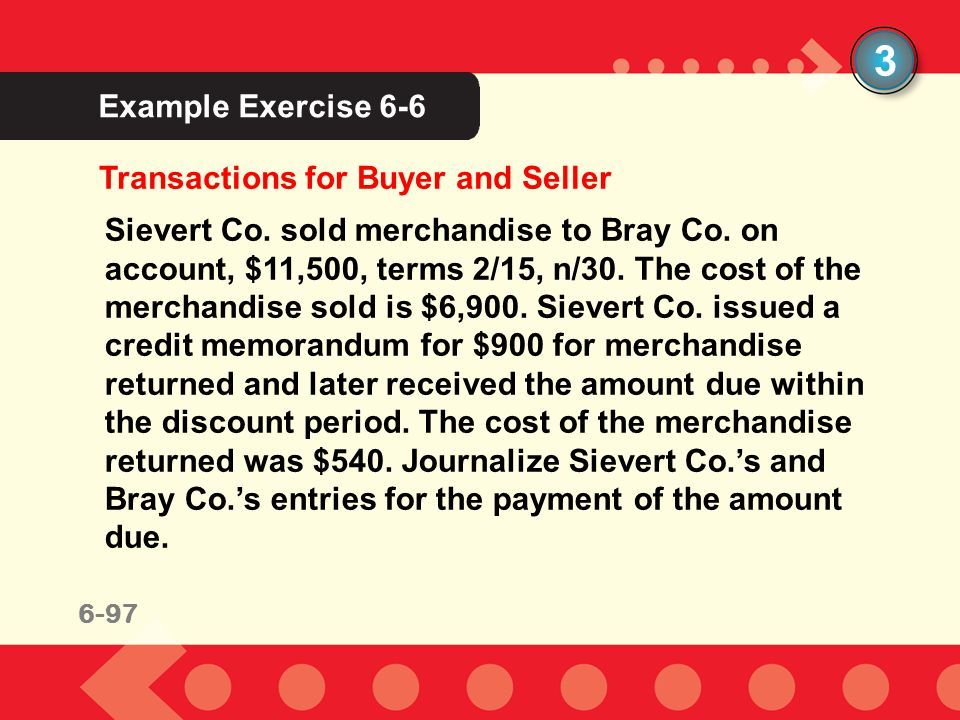 3 Example Exercise 6-6 Transactions for Buyer and Seller