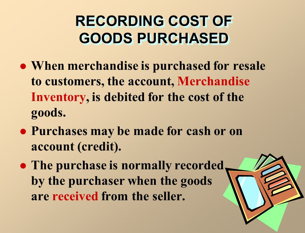 RECORDING COST OF GOODS PURCHASED