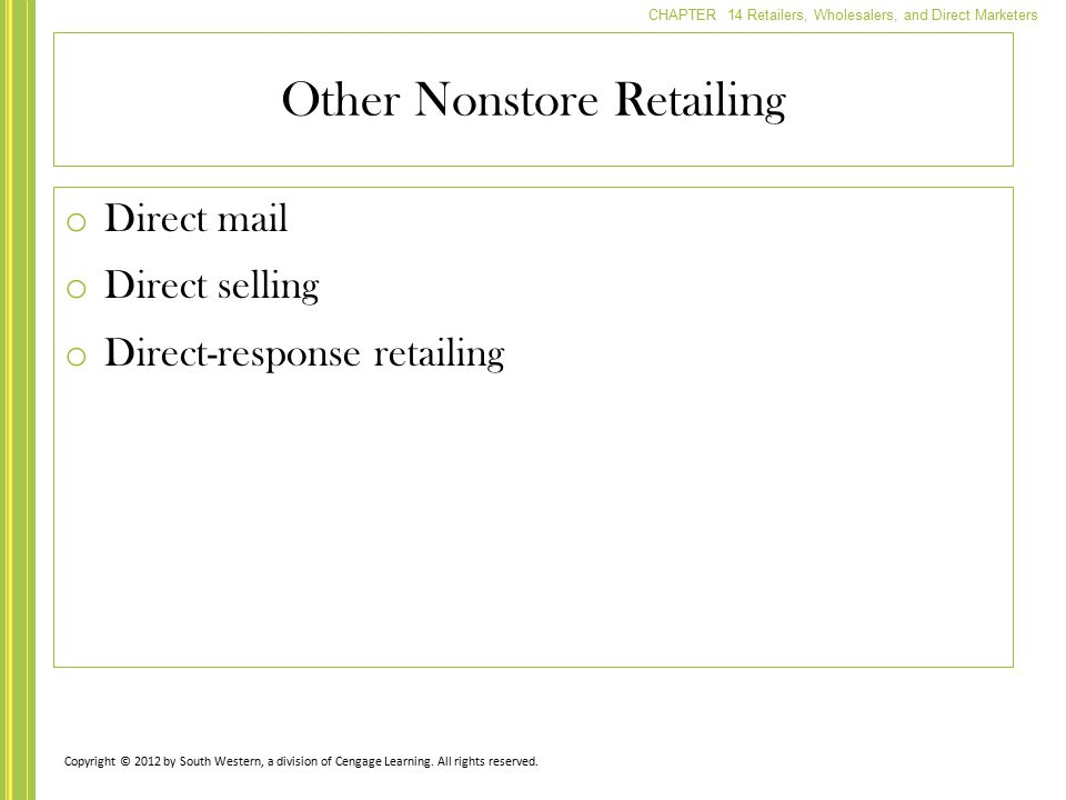 Other Nonstore Retailing