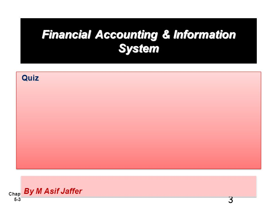 Financial Accounting & Information System