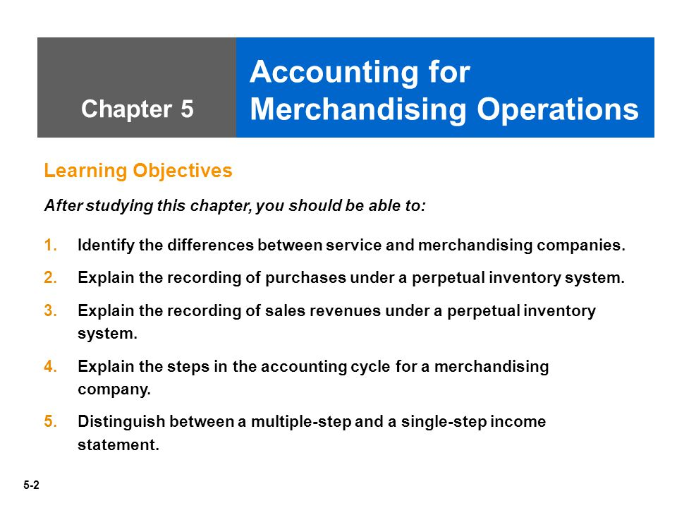 Chapter 5 Accounting For Merchandising Operations Answers