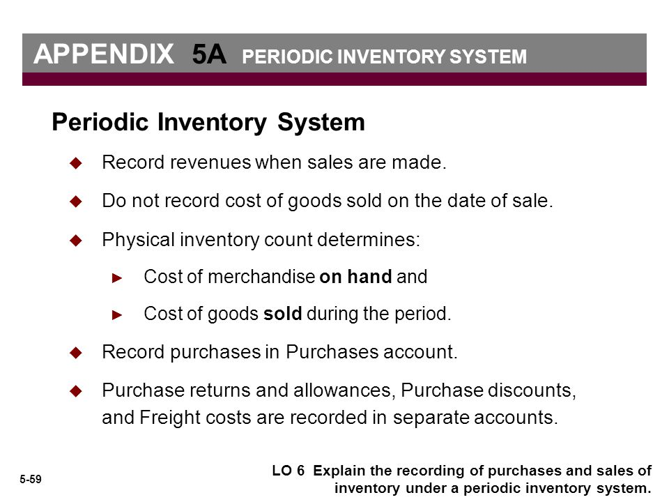 how to close periodic inventory system