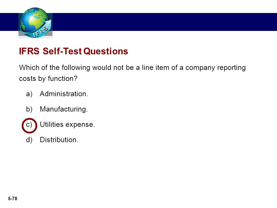 IFRS Self-Test Questions