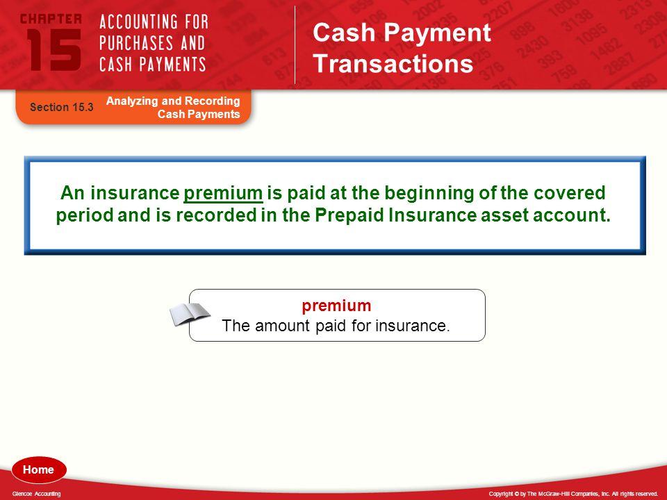 Cash Payment Transactions
