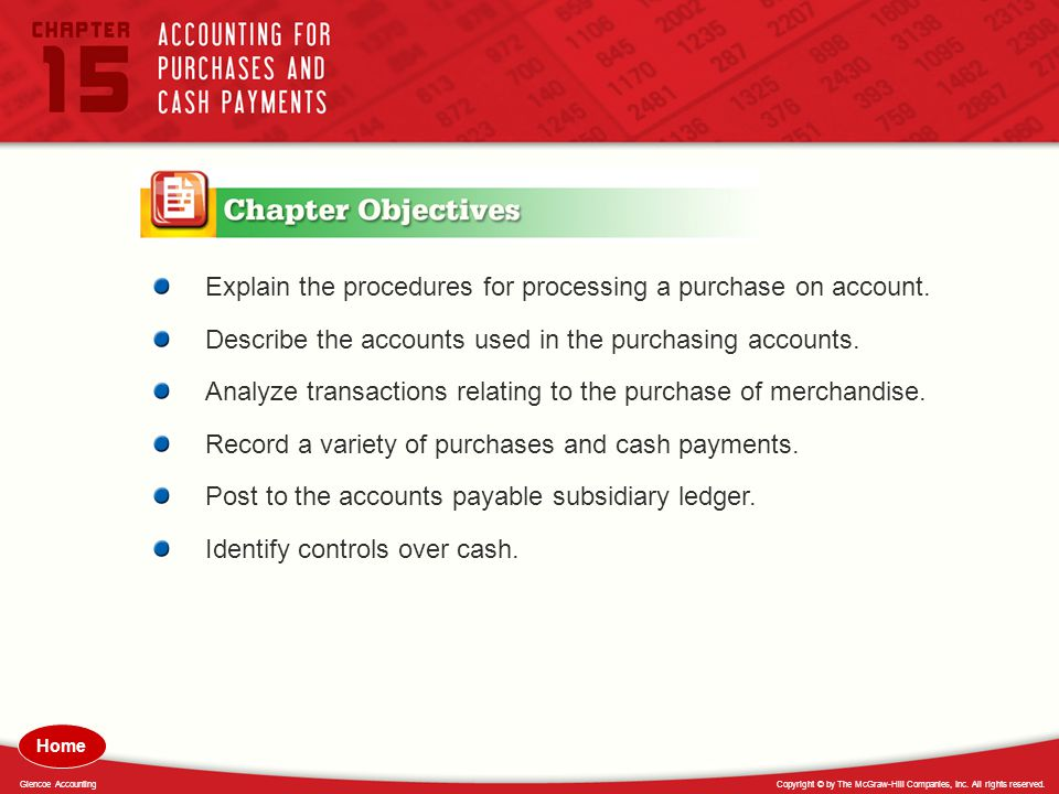 Explain the procedures for processing a purchase on account.
