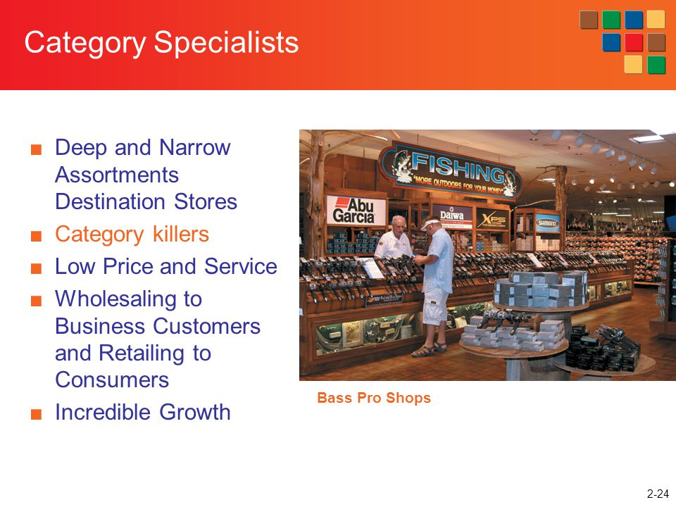 Category Specialists Deep and Narrow Assortments Destination Stores