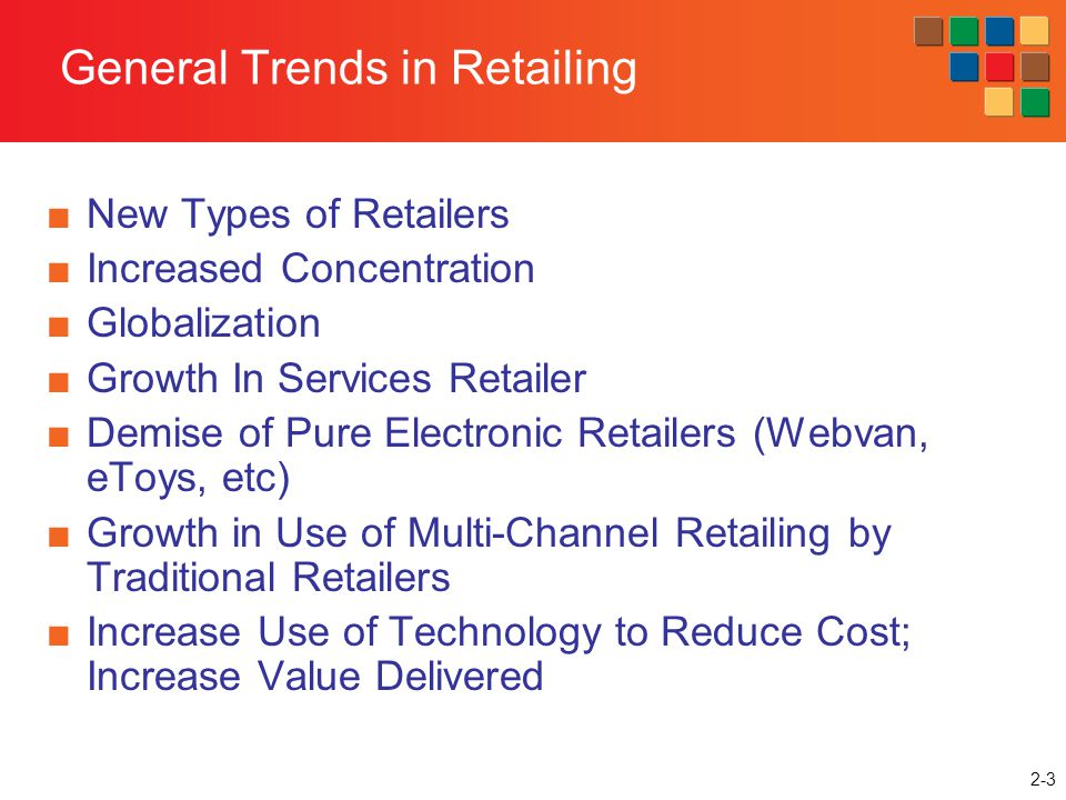 General Trends in Retailing