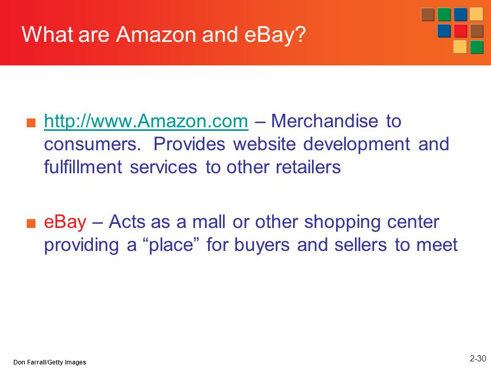 What are Amazon and eBay
