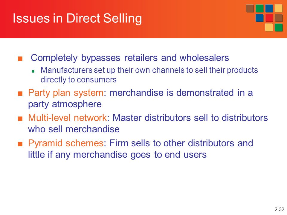 Issues in Direct Selling
