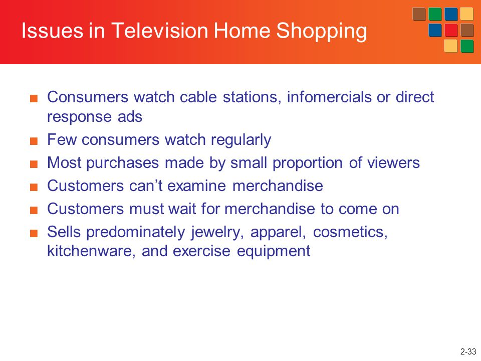 Issues in Television Home Shopping