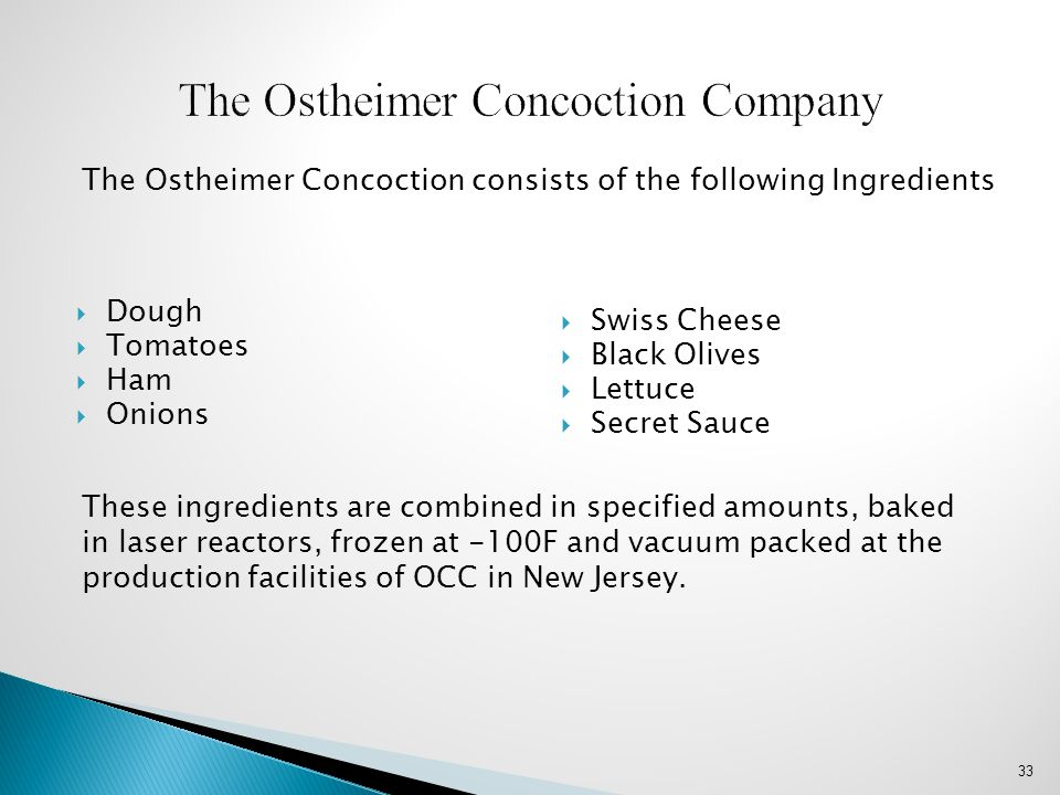 The Ostheimer Concoction Company