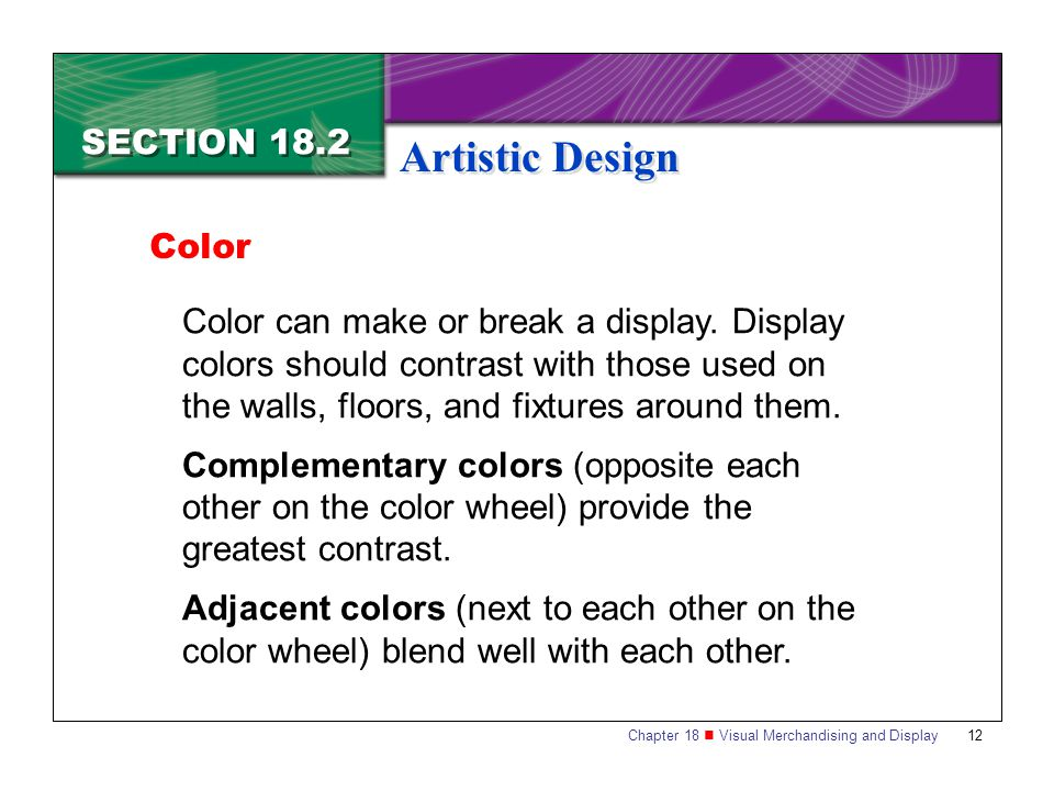 Artistic Design SECTION 18.2 Color