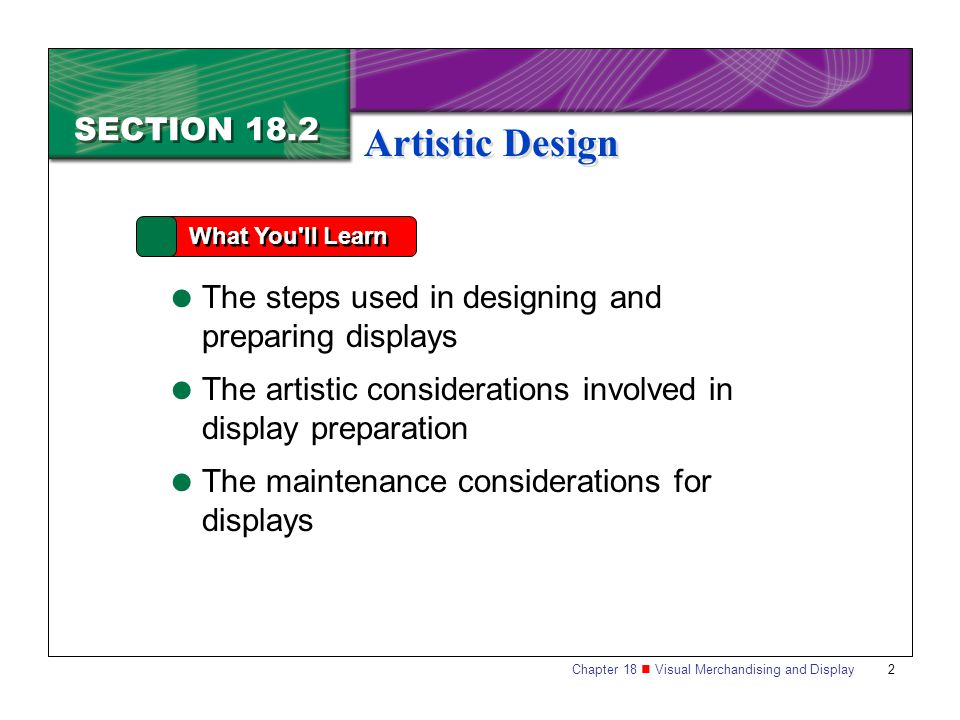 Artistic Design SECTION 18.2