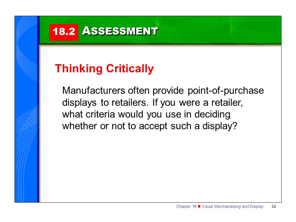ASSESSMENT Thinking Critically 18.2