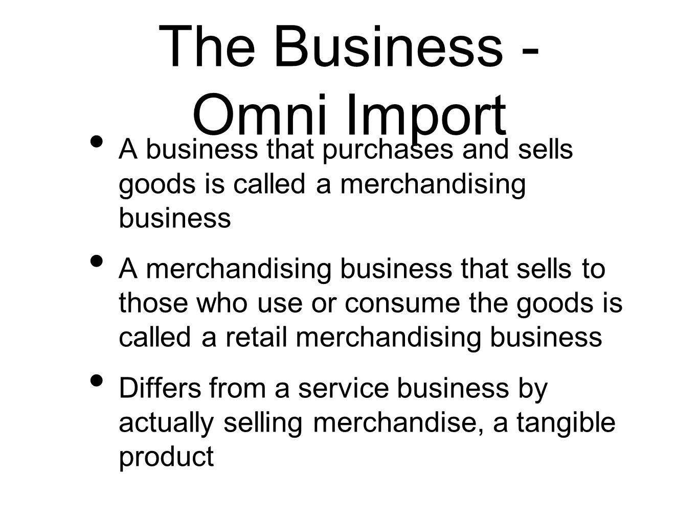 The Business - Omni Import