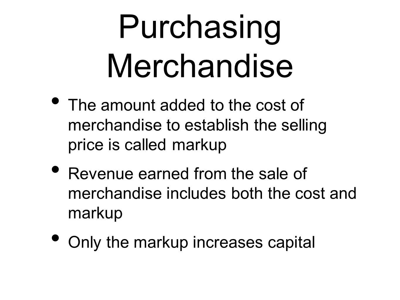 Purchasing Merchandise