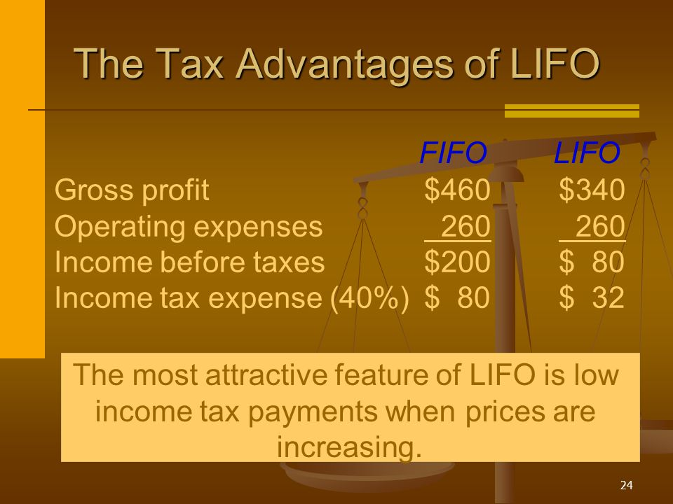The Tax Advantages of LIFO