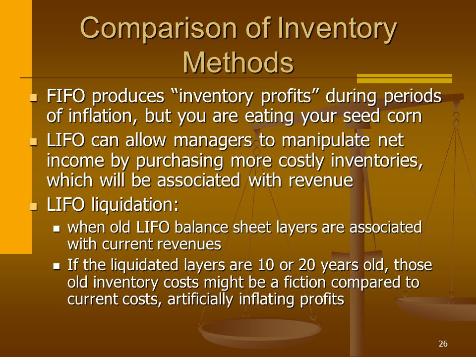 Comparison of Inventory Methods
