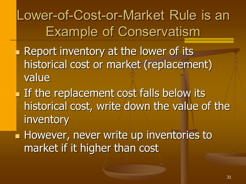 Lower-of-Cost-or-Market Rule is an Example of Conservatism