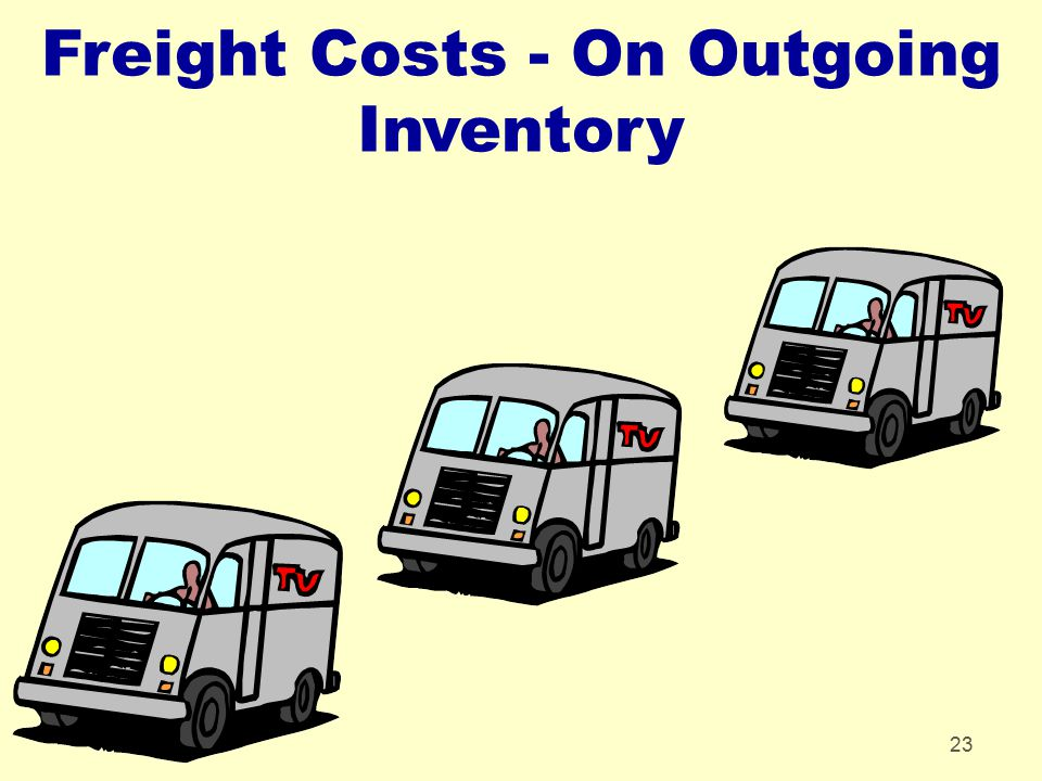 Freight Costs - On Outgoing Inventory