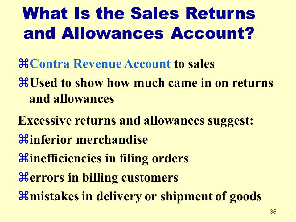 What Is the Sales Returns and Allowances Account