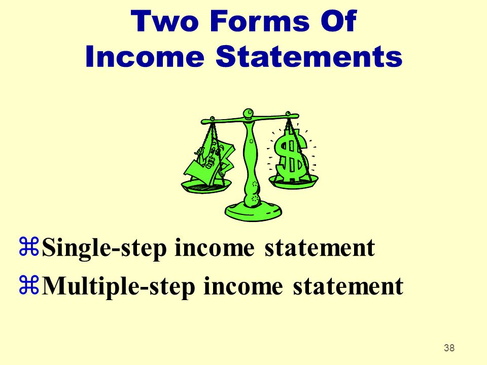 Two Forms Of Income Statements