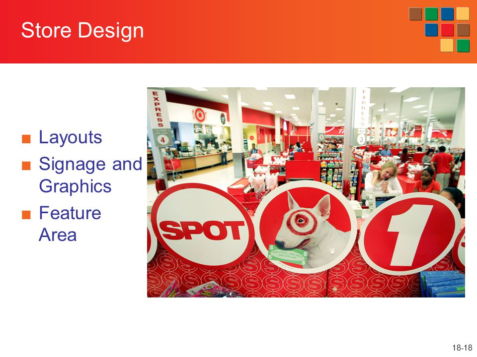 Store Design Layouts Signage and Graphics Feature Area