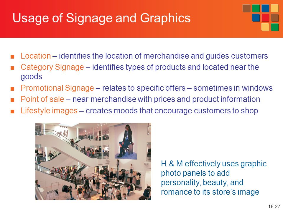 Usage of Signage and Graphics