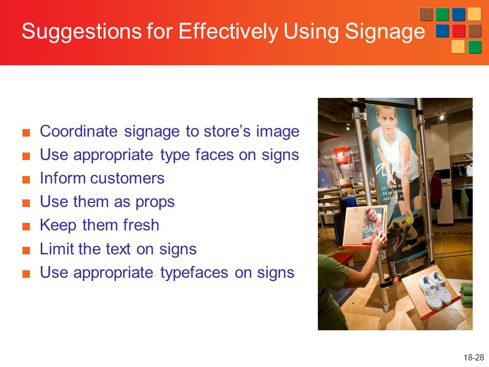 Suggestions for Effectively Using Signage