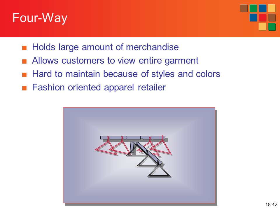 Four-Way Holds large amount of merchandise