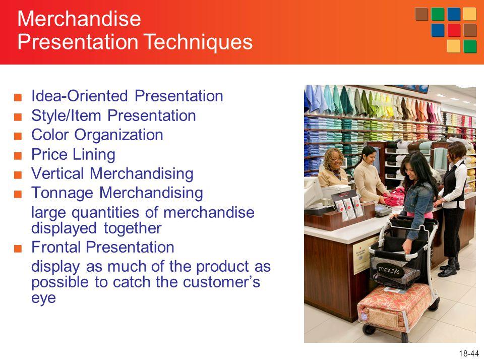 Merchandise Presentation Techniques