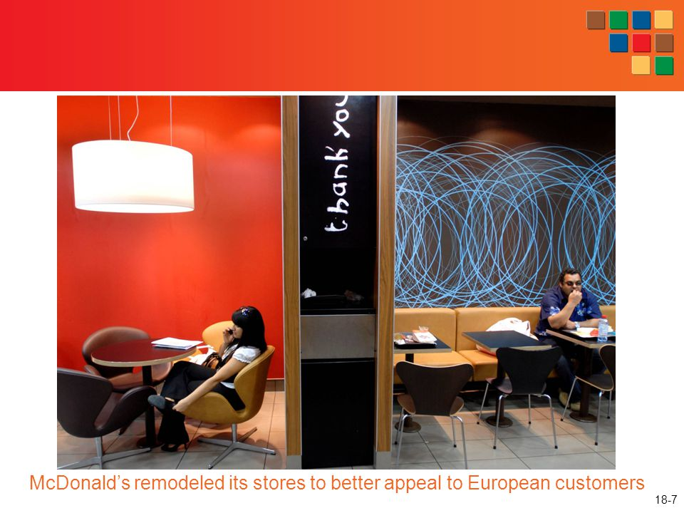 McDonald's remodeled its stores to better appeal to European customers