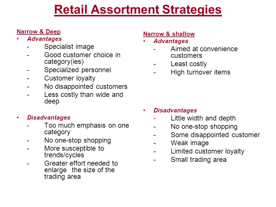 Retail Assortment Strategies