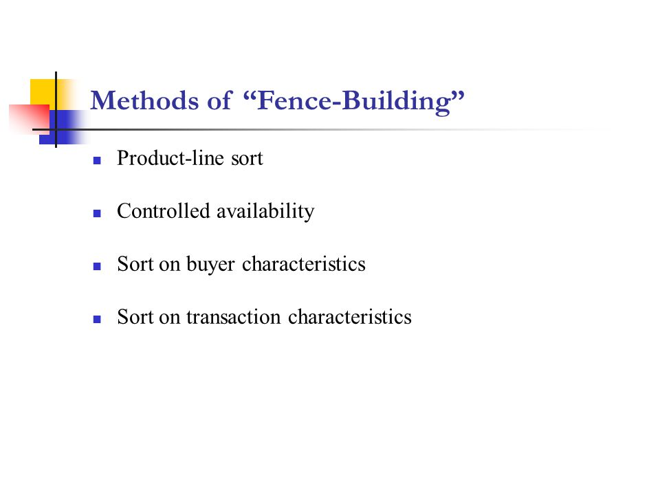 Methods of Fence-Building