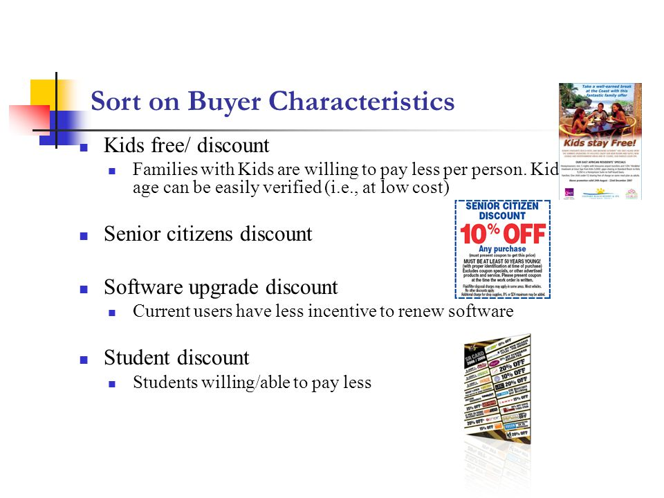 Sort on Buyer Characteristics