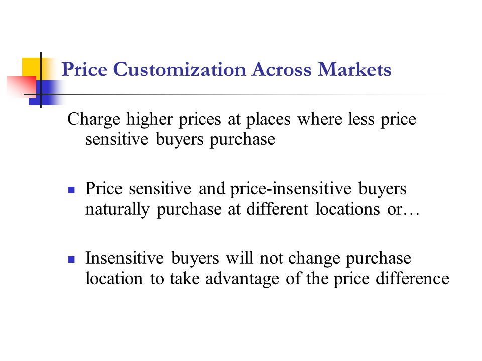Price Customization Across Markets