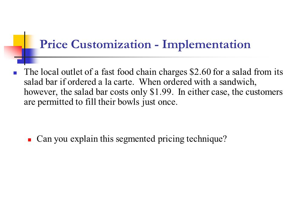 Price Customization - Implementation