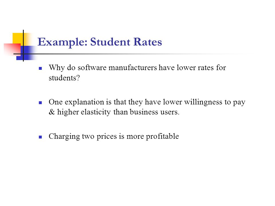 Example: Student Rates