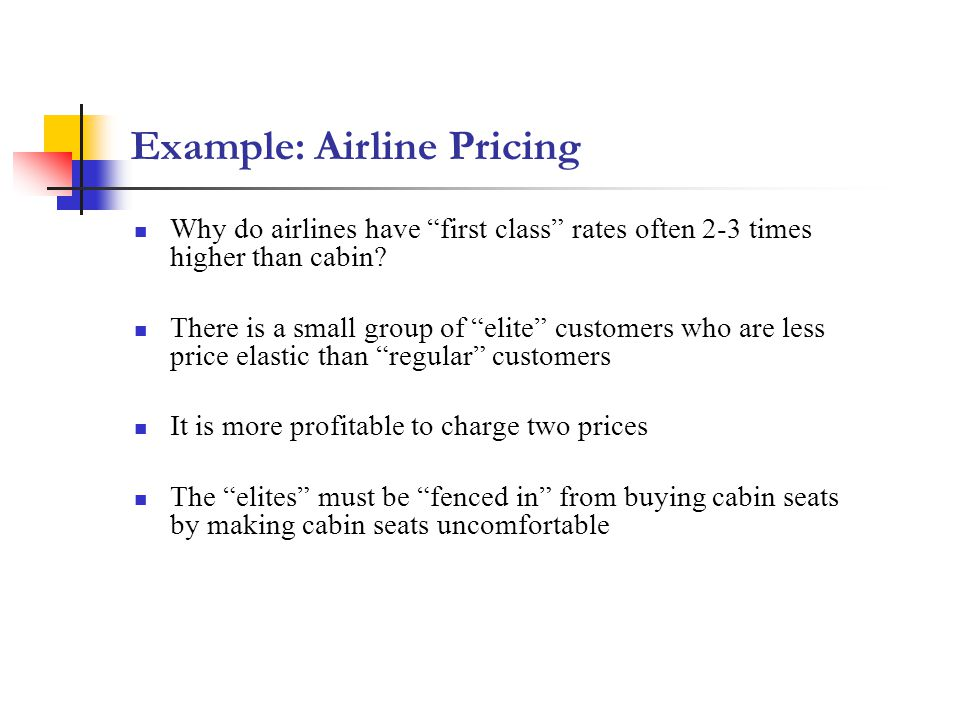 Example: Airline Pricing
