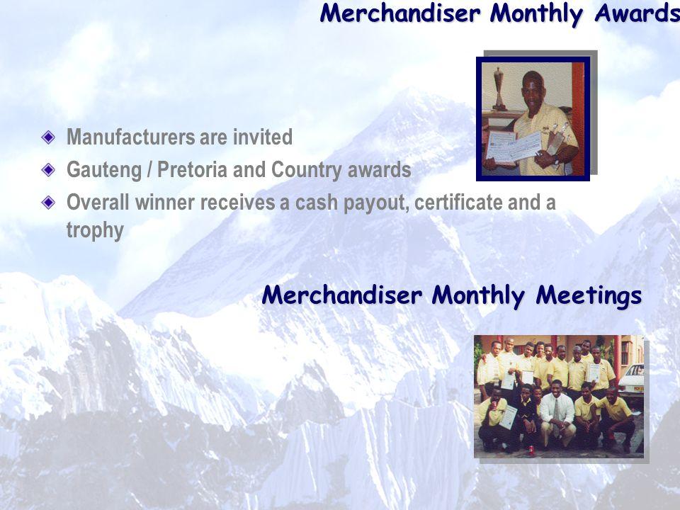 Merchandiser Monthly Awards Merchandiser Monthly Meetings