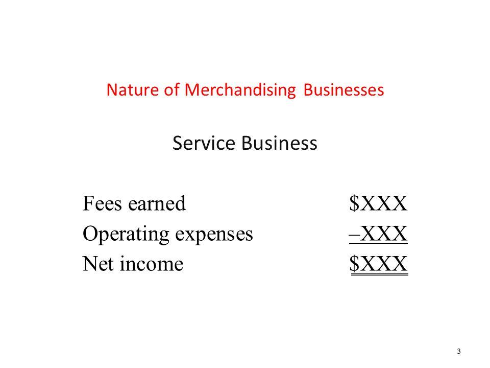 Nature of Merchandising Businesses
