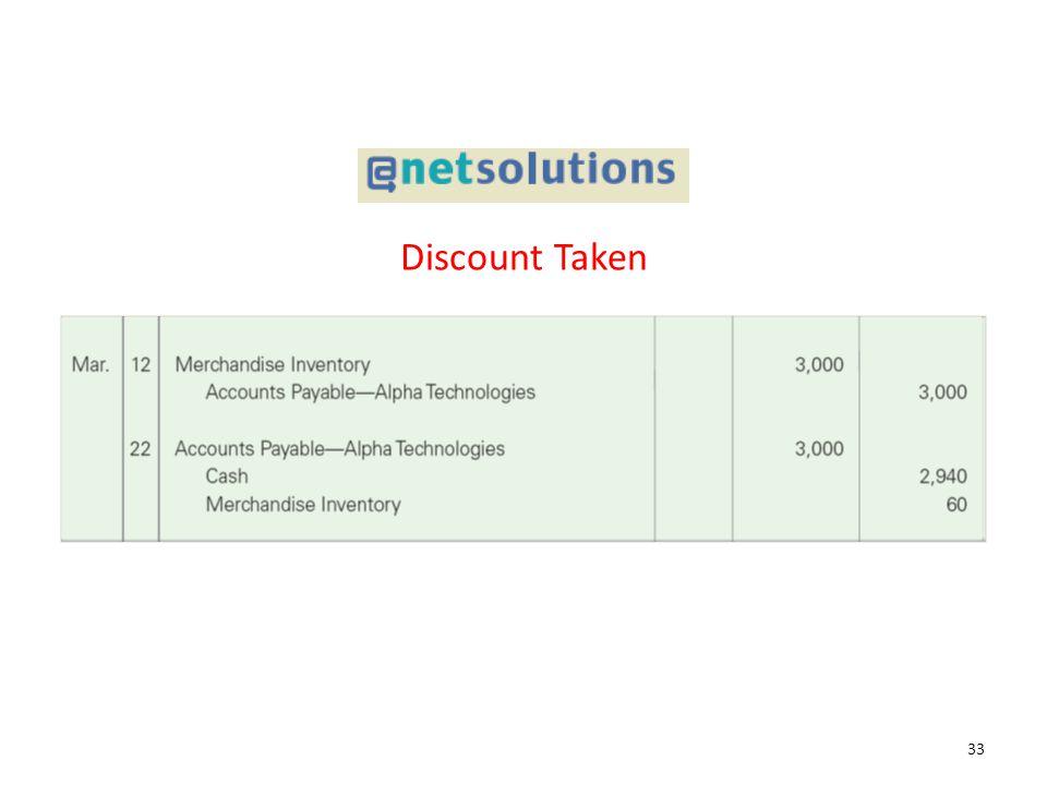 Discount Taken