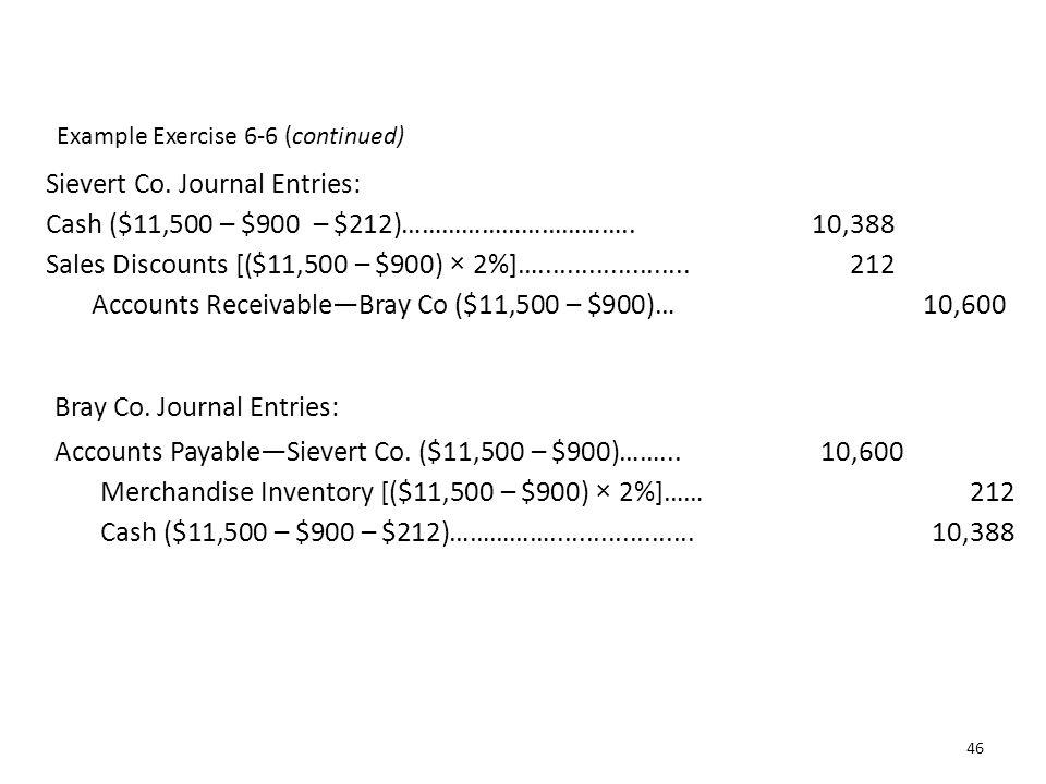 Sievert Co. Journal Entries: